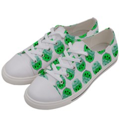 Kawaii Lime Jam Jar Pattern Women s Low Top Canvas Sneakers by snowwhitegirl