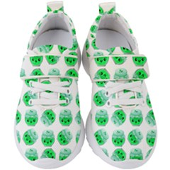 Kawaii Lime Jam Jar Pattern Kids  Velcro Strap Shoes by snowwhitegirl