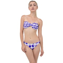 Kawaii Blueberry Jam Jar Pattern Classic Bandeau Bikini Set