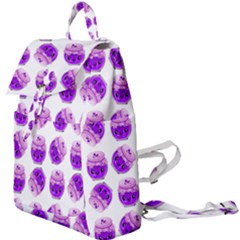 Kawaii Grape Jam Jar Pattern Buckle Everyday Backpack