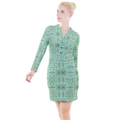 Ornamental Green Button Long Sleeve Dress by snowwhitegirl