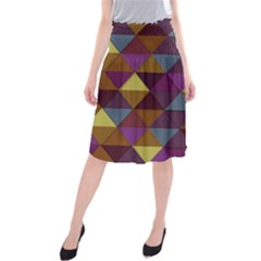 Fall Geometric Pattern Midi Beach Skirt