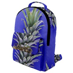 Pineapple Blue Flap Pocket Backpack (small)