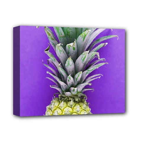 Pineapple Purple Deluxe Canvas 14  X 11  (stretched)