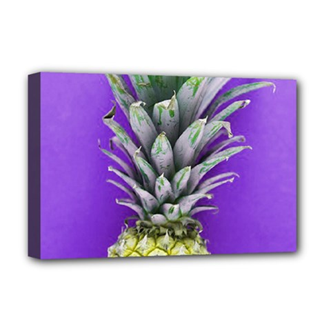 Pineapple Purple Deluxe Canvas 18  X 12  (stretched)
