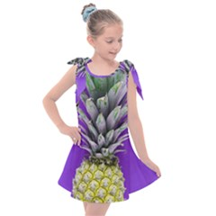 Pineapple Purple Kids  Tie Up Tunic Dress