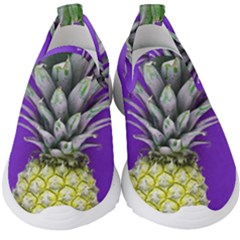 Pineapple Purple Kids  Slip On Sneakers