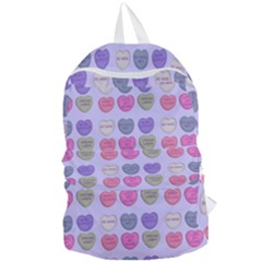 Valentine Hearts Lilac Foldable Lightweight Backpack