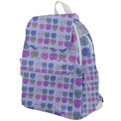Valentine Hearts Blue Top Flap Backpack