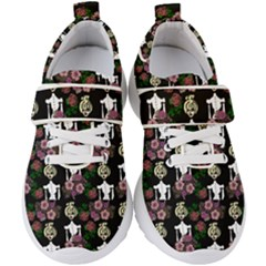 Victorian Girl Black Kids  Velcro Strap Shoes