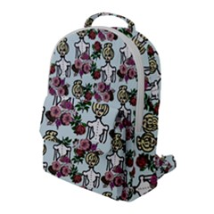 Victorian Girl Blue Flap Pocket Backpack (large)