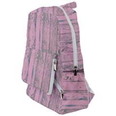 Old Pink Wood Wall Travelers  Backpack