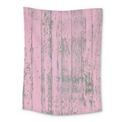 Old Pink Wood Wall Medium Tapestry