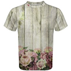 Floral Wood Wall Men s Cotton Tee by snowwhitegirl