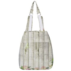 Floral Wood Wall Center Zip Backpack