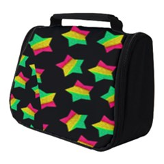 Ombre Glitter Pink Green Star Pat Full Print Travel Pouch (small)