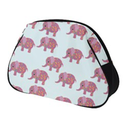 Pink Flower Elephant Full Print Accessory Pouch (small)