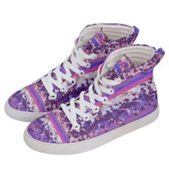 Abstract Pastel Pink Blue Women s Hi-top Skate Sneakers by snowwhitegirl