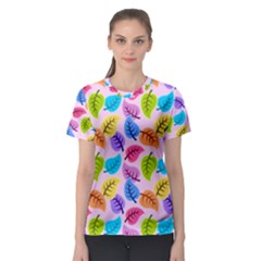 Colorful Leaves Women s Sport Mesh Tee
