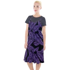 Tropical Leaves Purple Camis Fishtail Dress by snowwhitegirl