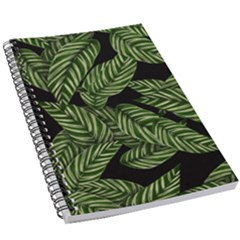 Tropical Leaves On Black 5 5  X 8 5  Notebook by snowwhitegirl