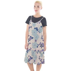 Vintage Floral Blue Pattern Camis Fishtail Dress by snowwhitegirl
