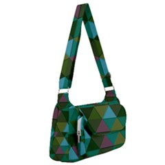 Green Geometric Post Office Delivery Bag