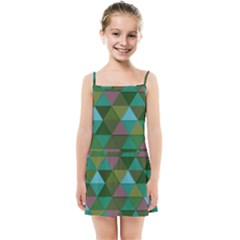 Green Geometric Kids  Summer Sun Dress by snowwhitegirl