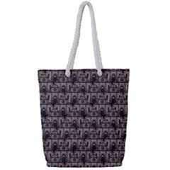 Gothic Church Pattern Full Print Rope Handle Tote (small)