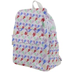 Colorful Cherubs White Top Flap Backpack