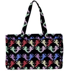 Colorful Cherubs Black Canvas Work Bag by snowwhitegirl