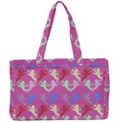 Colorful Cherubs Pink Canvas Work Bag by snowwhitegirl