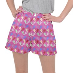 Colorful Cherubs Pink Stretch Ripstop Shorts