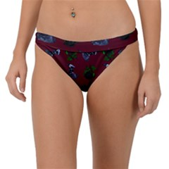 Gothic Girl Rose Red Pattern Band Bikini Bottom by snowwhitegirl