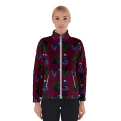 Gothic Girl Rose Red Pattern Winter Jacket
