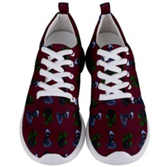 Gothic Girl Rose Red Pattern Men s Lightweight Sports Shoes