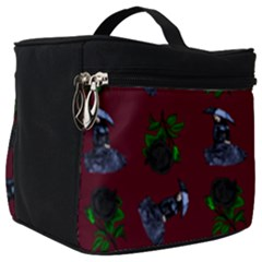 Gothic Girl Rose Red Pattern Make Up Travel Bag (big) by snowwhitegirl