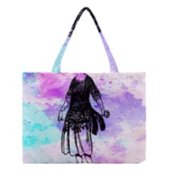 Vintage Girl Abstract Watercolor Medium Tote Bag