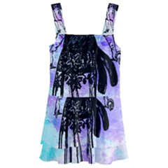 Vintage Girl Abstract Watercolor Kids  Layered Skirt Swimsuit by snowwhitegirl