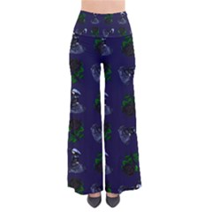 Gothic Girl Rose Blue Pattern So Vintage Palazzo Pants