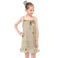 Flapper Lady Vintage Kids  Overall Dress