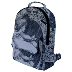 Victorian Angel With Shining Light Flap Pocket Backpack (small)
