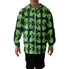Retro Flower Green Hooded Windbreaker (kids) by snowwhitegirl