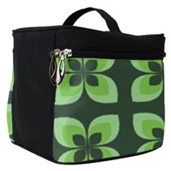 Retro Flower Green Make Up Travel Bag (small) by snowwhitegirl