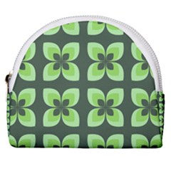 Retro Flower Green Horseshoe Style Canvas Pouch by snowwhitegirl
