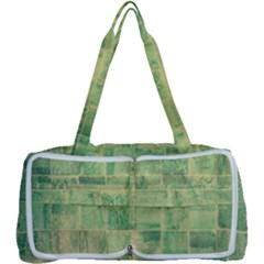 Abstract Green Tile Multi Function Bag