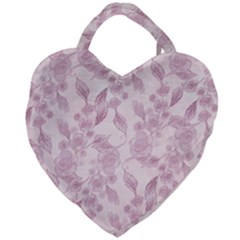 Pink Floral Giant Heart Shaped Tote