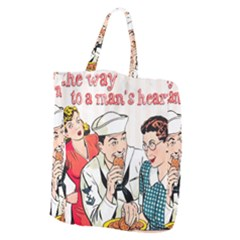 Retro Sailor Eating Cookie Giant Grocery Tote