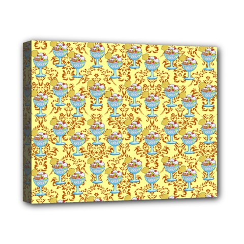 Paisley Yellow Sundaes Canvas 10  X 8  (stretched)
