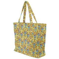 Paisley Yellow Sundaes Zip Up Canvas Bag